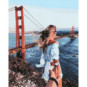Следуй за мной. Мост Раскраска картина по номерам на холсте U8021