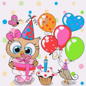 В день рождения Раскраска картина по номерам на холсте KH1029