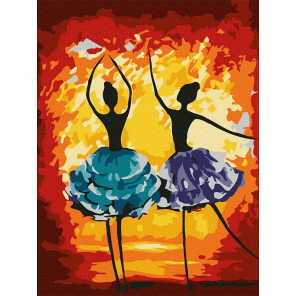 Яркий танец Раскраска картина по номерам на холсте KH0991