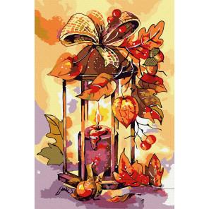 Осенний фонарь Раскраска картина по номерам на холсте KH1039