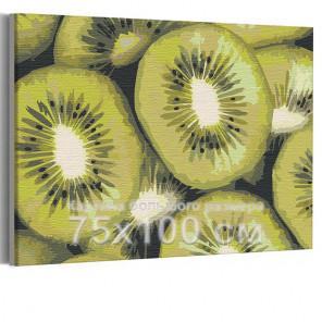 Киви 75х100 см Раскраска картина по номерам на холсте AAAA-RS137-75x100