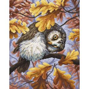 Сова осенью Алмазная вышивка мозаика МС-063