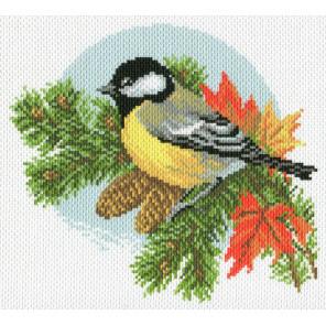 Осенняя синица Набор для вышивания Матренин Посад 6729 СК
