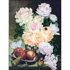 Розы с медом Набор для вышивания лентами Многоцветница МЛ(Н)-3009