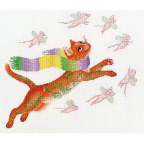 Охота на розовых мышей Набор для вышивания Золотое руно ВК-055