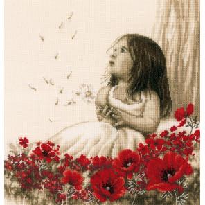 Девочка на маковом поле Набор для вышивания VERVACO PN-0184269