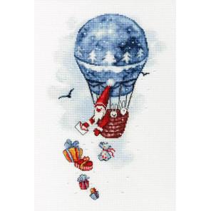 Воздушный шар Набор для вышивания Золотое руно М-010