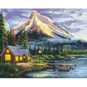 Дом у реки Раскраска картина по номерам CG2018