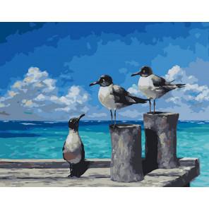 Три товарища Раскраска картина по номерам CG2029