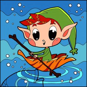 Маленькая лодочка Раскраска картина по номерам UE050
