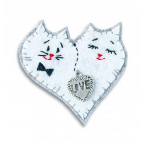 Коты Брошка Набор для создания игрушки своими руками Перловка ПБР-1004