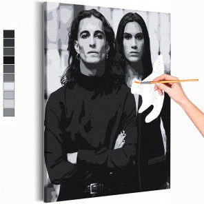Манескин / Damiano и Ethan Раскраска картина по номерам на холсте AAAA-RS250