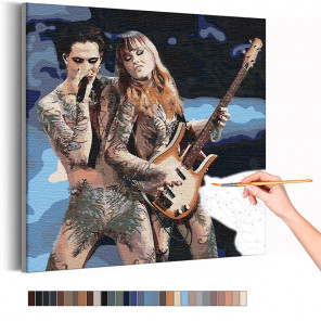 Maneskin / Дамиано и Виктория Раскраска картина по номерам на холсте AAAA-RS308