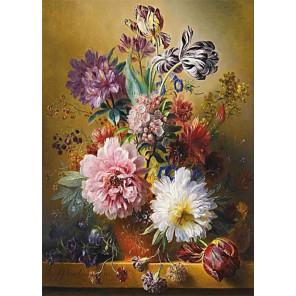 Вальс цветов Ткань для вышивки лентами Каролинка КЛ-3048