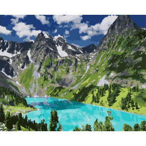 Гармония в горах Раскраска картина по номерам на холсте PK11428