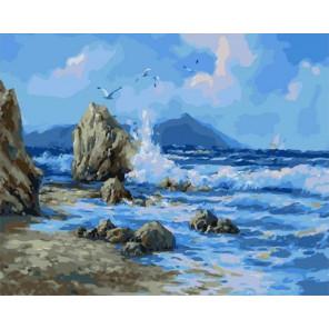 Ветер над морем Раскраска картина по номерам на холсте PK11436