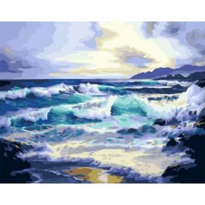 Рассвет над океаном Раскраска картина по номерам на холсте PK11461