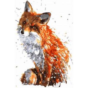 Хитрая лисичка Раскраска картина по номерам на холсте PK11466