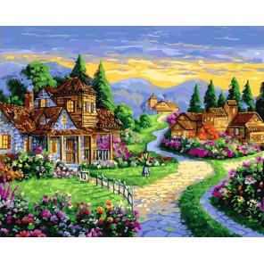 Сказочные домики Раскраска картина по номерам на холсте GX40310