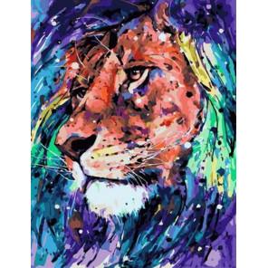 Лев Раскраска картина по номерам на холсте PK11505