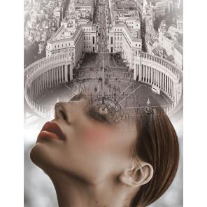 Мыслями в Риме Раскраска картина по номерам на холсте MG2422