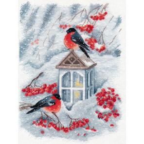 А снег идёт Набор для вышивания Овен 1415