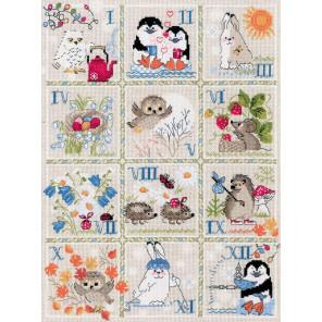 Лесной календарь Набор для вышивания Риолис 1979