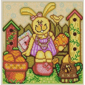 Пасхальный кролик 1 Ткань с рисунком для вышивки бисером Конек 1345