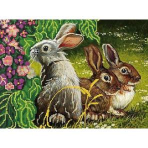 Цветы Ткань с рисунком для вышивки бисером Божья коровка 0162