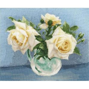 Чайные розы Набор для вышивания Золотое Руно ЛЦ-079
