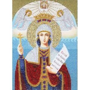 Образ Святой Великомученицы Параскевы Пятницы Набор для вышивания бисером Золотое Руно РТ-040