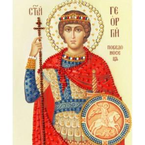 Икона Святого Великомученика Георгия Победоносца Набор для вышивания бисером Золотое Руно РТ-117