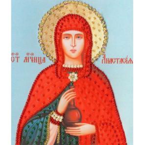 Икона Святой Великомученицы Анастасии Узорешительницы Набор для вышивания бисером Золотое Руно РТ-124