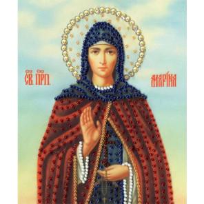 Икона Святой Преподобной Марины Набор для вышивания бисером Золотое Руно РТ-145