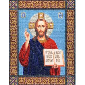 Икона Господь Вседержитель Набор для вышивания бисером Золотое Руно РТ-030