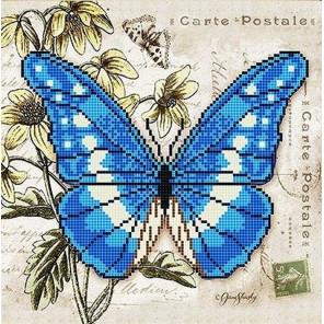Бабочка 3 Ткань с рисунком для вышивки бисером Божья коровка 0143
