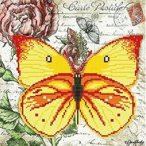 Бабочка 7 Ткань с рисунком для вышивки бисером Божья коровка 0147