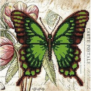 Бабочка 8 Ткань с рисунком для вышивки бисером Божья коровка 0148