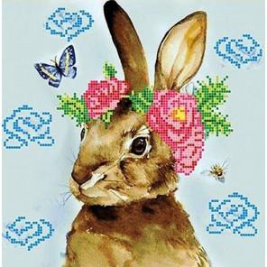 Весна Ткань с рисунком для вышивки бисером Божья коровка 0151