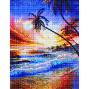 Закат в тропиках Алмазная вышивка мозаика на подрамнике WB11801