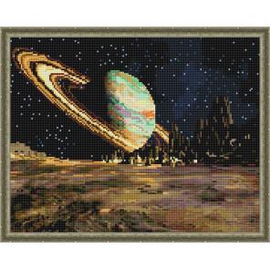 Сатурн Алмазная вышивка мозаика с нанесенной рамкой Molly KM0907