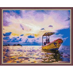 Рыбацкая лодка Алмазная вышивка мозаика с нанесенной рамкой Molly KM0909