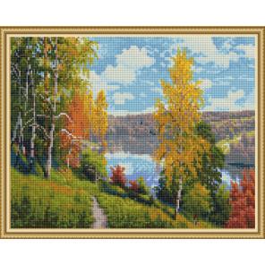 Осенний день (И. Прищепа) Алмазная вышивка мозаика с нанесенной рамкой Molly KM0911