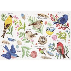 Изучая птиц Набор для вышивания Design works 3413