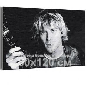 Курт Кобейн / Нирвана / Музыка 80х120 см Раскраска картина по номерам на холсте AAAA-RS337-80x120