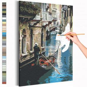 Прогулка по Венеции / Италия Раскраска картина по номерам на холсте AAAA-RS203