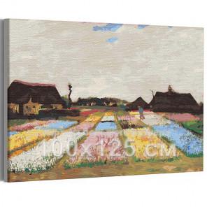 Цветники в Голландии Винсент Ван Гог / Известные картины 100х125 см Раскраска картина по номерам на холсте AAAA-RS270-100x125