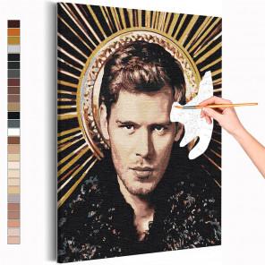Клаус Дневники вампира Раскраска картина по номерам на холсте с металлической краской AAAA-RS366