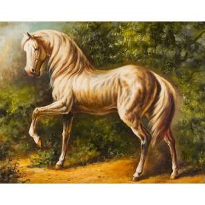 Златогривый конь Алмазная вышивка (мозаика) Гранни