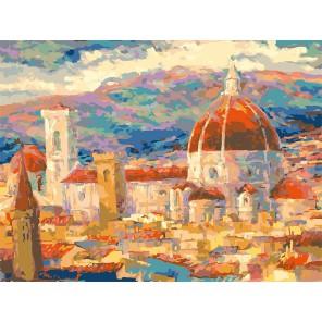 Дождь над Флоренцией Раскраска ( картина ) по номерам акриловыми красками на холсте Белоснежка